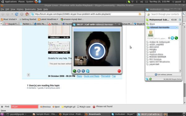 video conf. dengan Rahmad